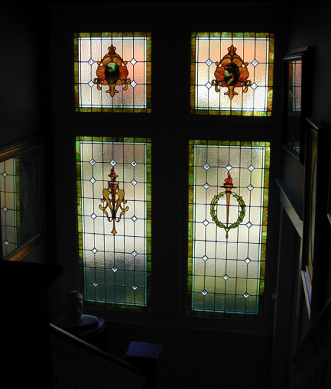 Residential stained glass windows old house living part 2 for Residential window design