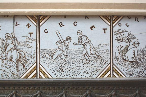 "Though ""Cricket"", ""Polo"" and ""Racing"" tiles formed part of the set of 12 ""Sporting Scenes"" tiles – all of the other tiles in the set involved killing beasts of various sizes!"