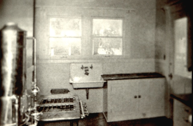 An Early Photograph Of A Kitchen With Gas Burning Range, Connected To A Hot  Water Part 53